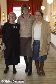 Onze 3 medewerksters / kokkinen en gastvrouwen. vLnR Marianne Lourijsen, Nicky de Boer en Adrie van Diemen
