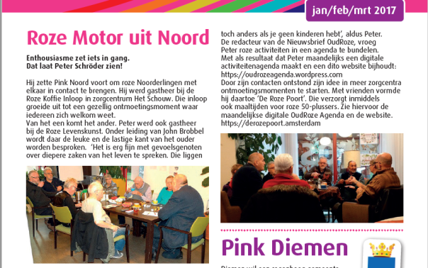 Uit Nieuwsbrief OudRoze 01-01-2017 Uitgave Amstelring